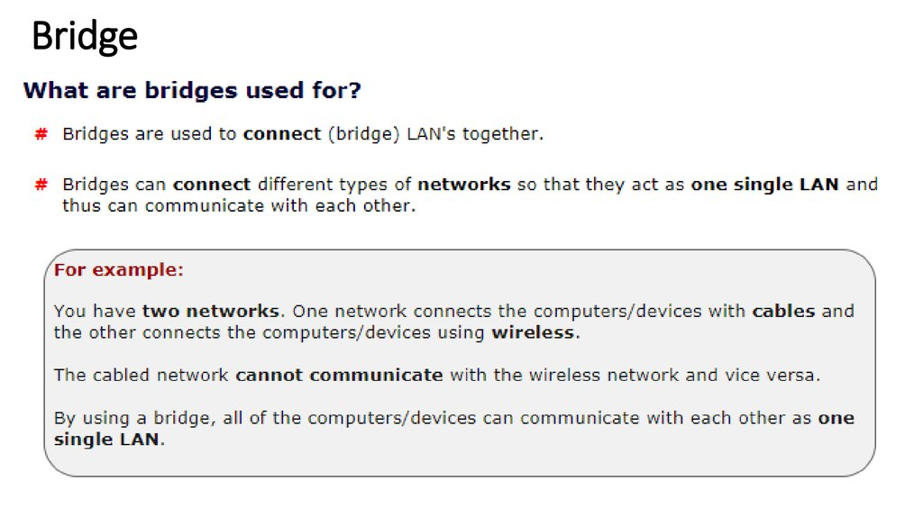 Network Devices - online presentation
