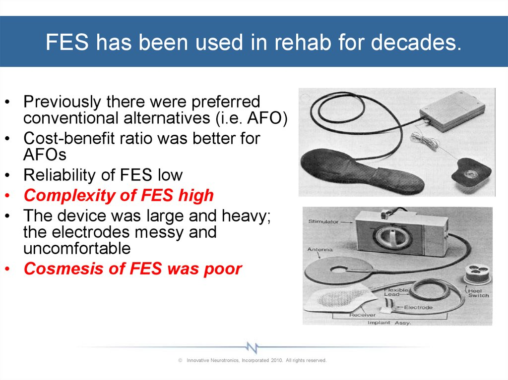 FES has been used in rehab for decades.