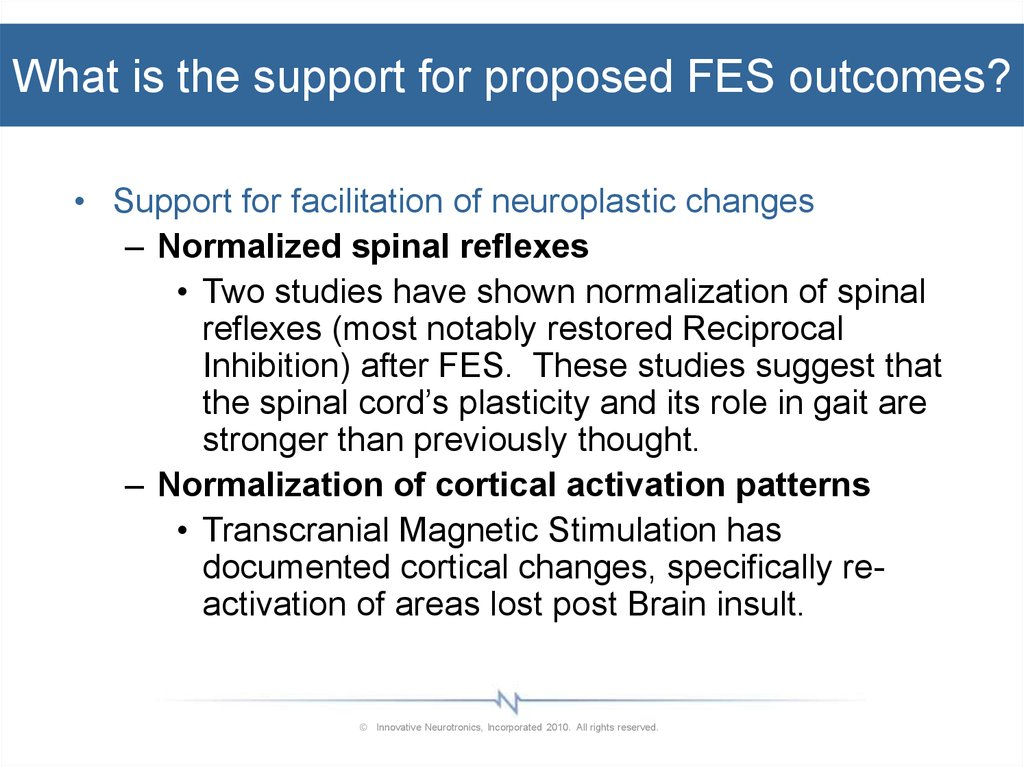 What is the support for proposed FES outcomes?