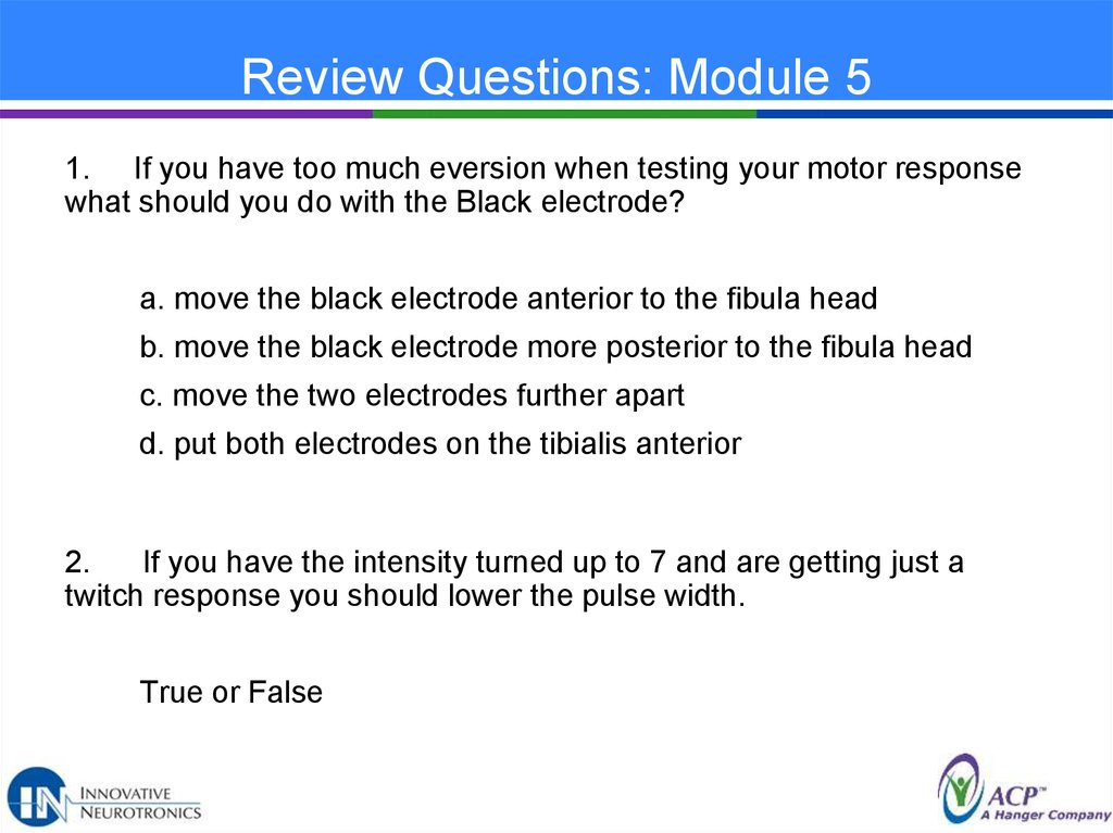 Review Questions: Module 5