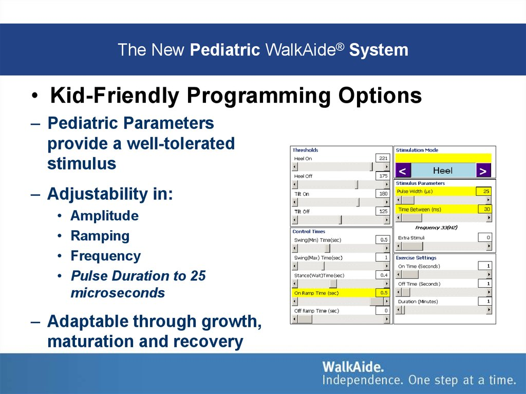 The New Pediatric WalkAide® System