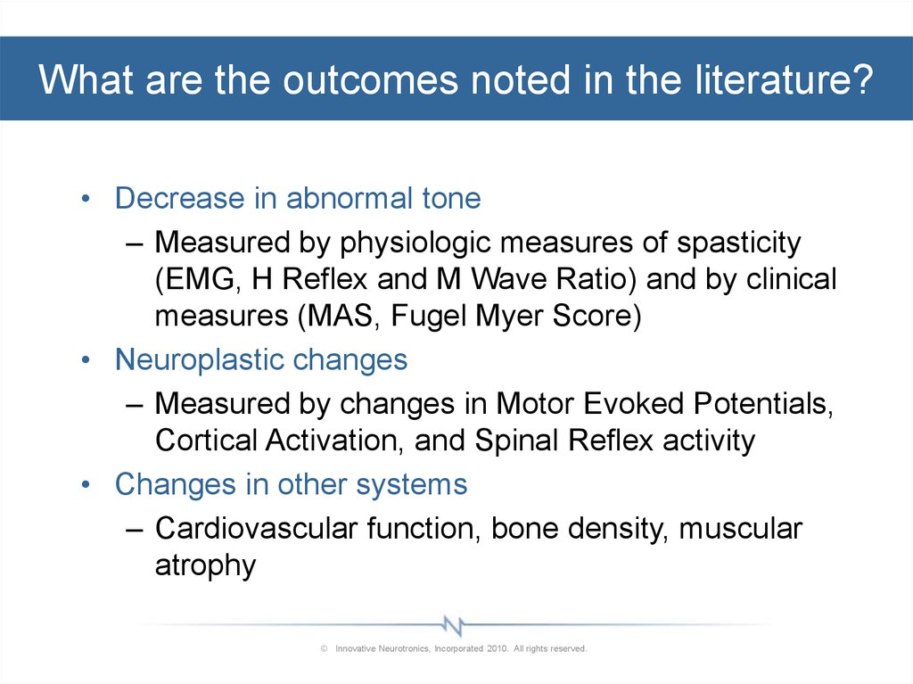 What are the outcomes noted in the literature?