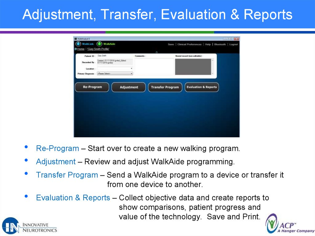Adjustment, Transfer, Evaluation & Reports