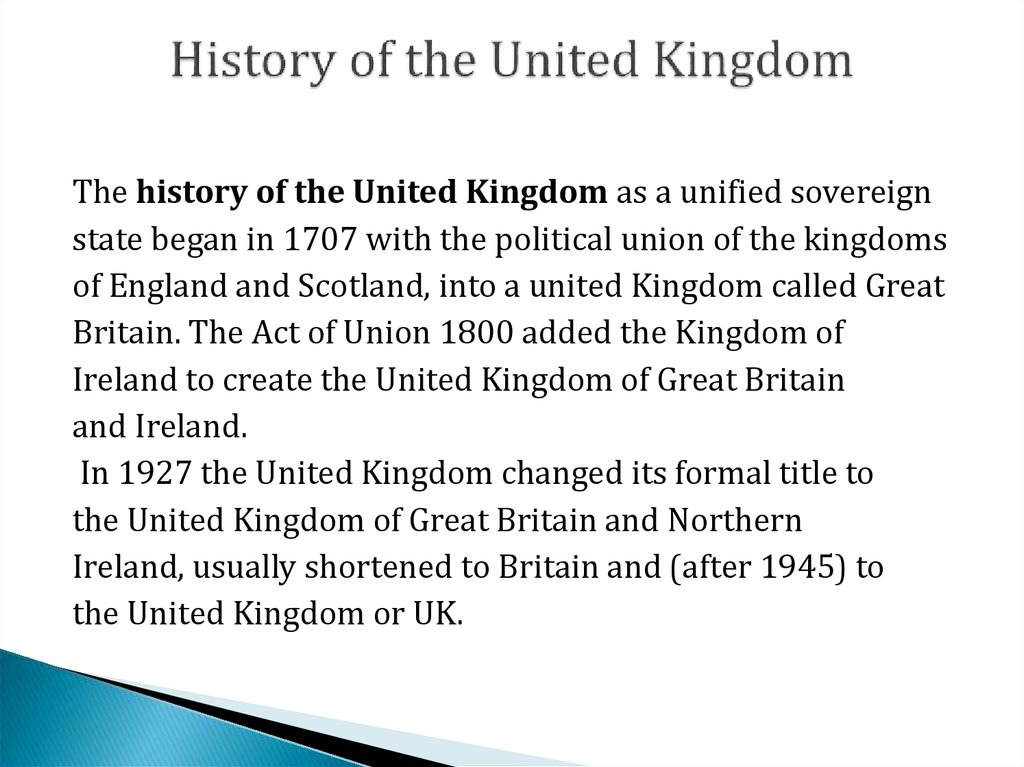 History of the United Kingdom