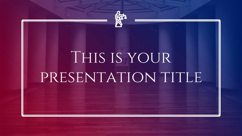 Presentation Instructions For Use Online Presentation