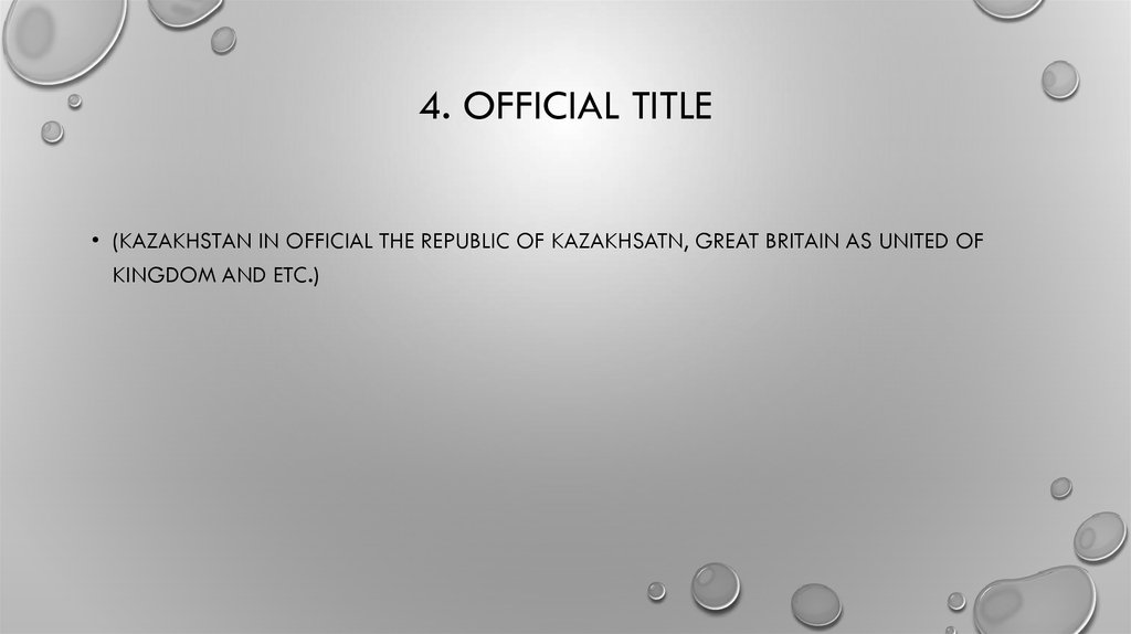 4. Official title