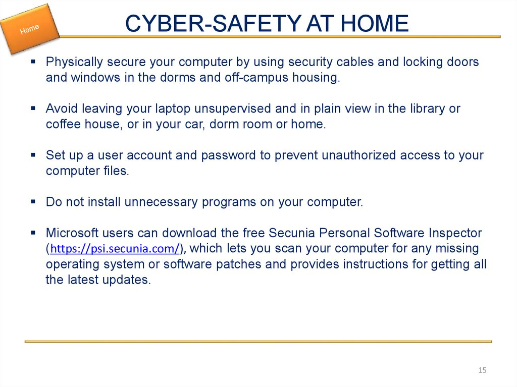 CYBER-SAFETY AT HOME