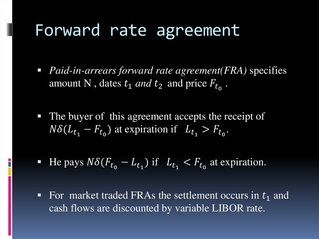 Forward Rate Agreement Ppt Gallery Agreement Letter Format