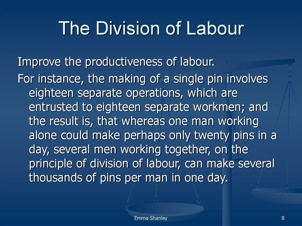 adam smith the division of labor