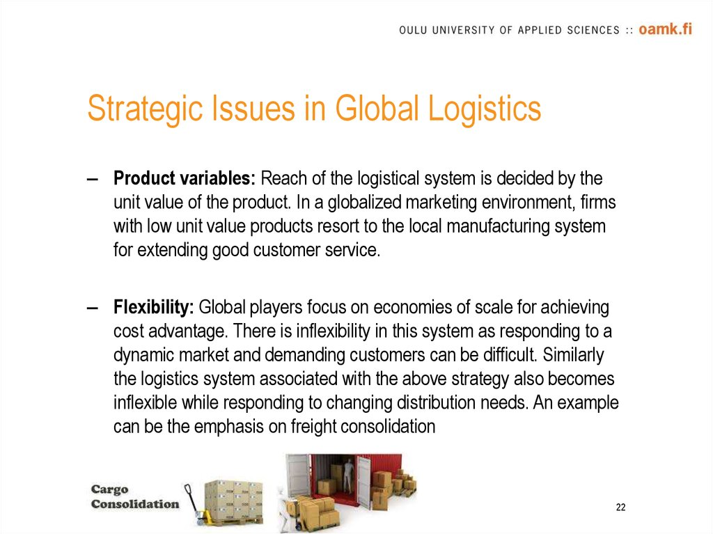 Strategic Issues in Global Logistics