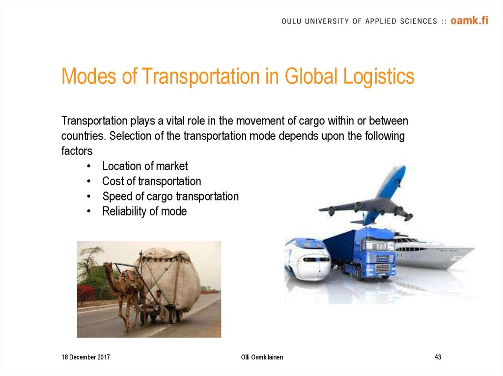 Modes of Transportation in Global Logistics