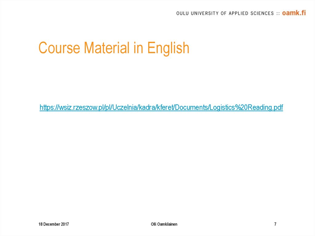 Course Material in English