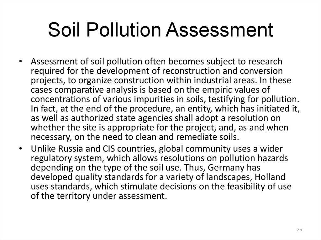 Soil Pollution Assessment