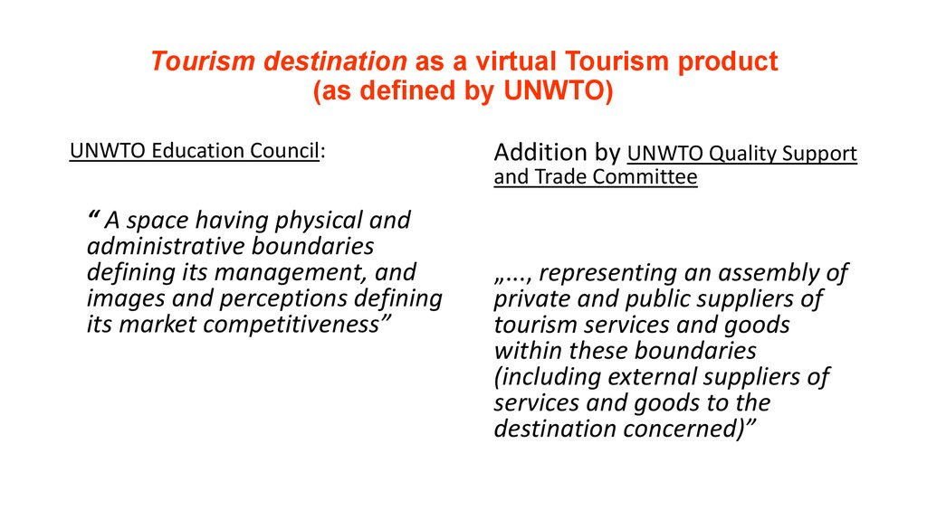 World Tourism Market  Defining and understanding the world tourism