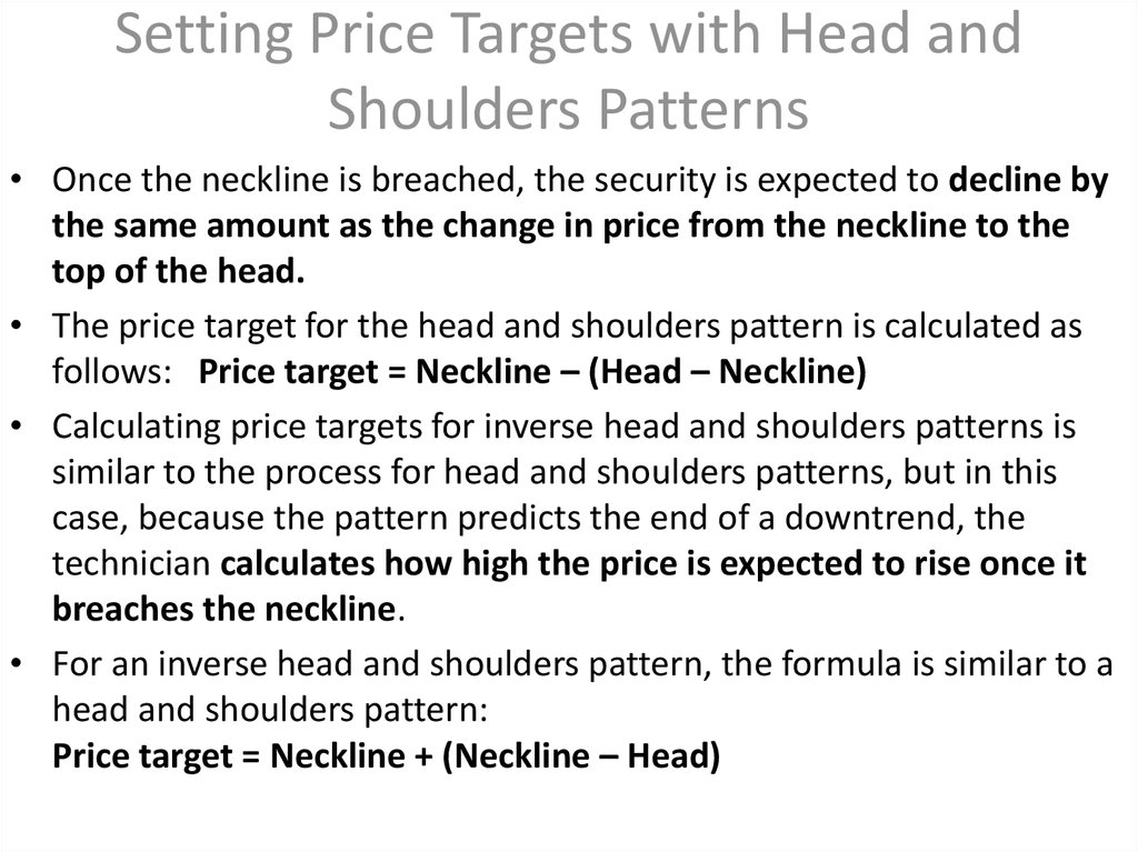 Setting Price Targets with Head and Shoulders Patterns