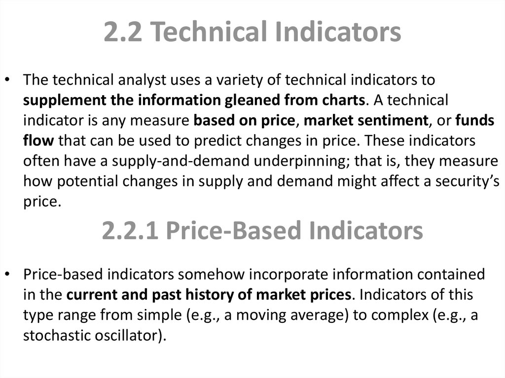 2.2 Technical Indicators