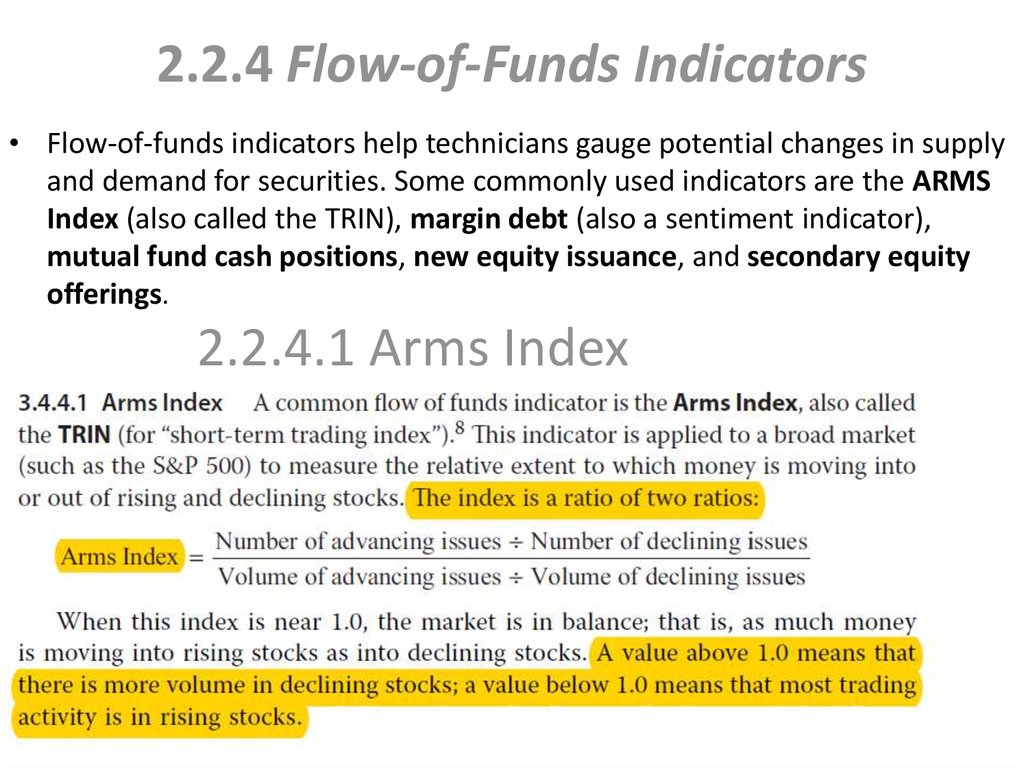 2.2.4 Flow-of-Funds Indicators