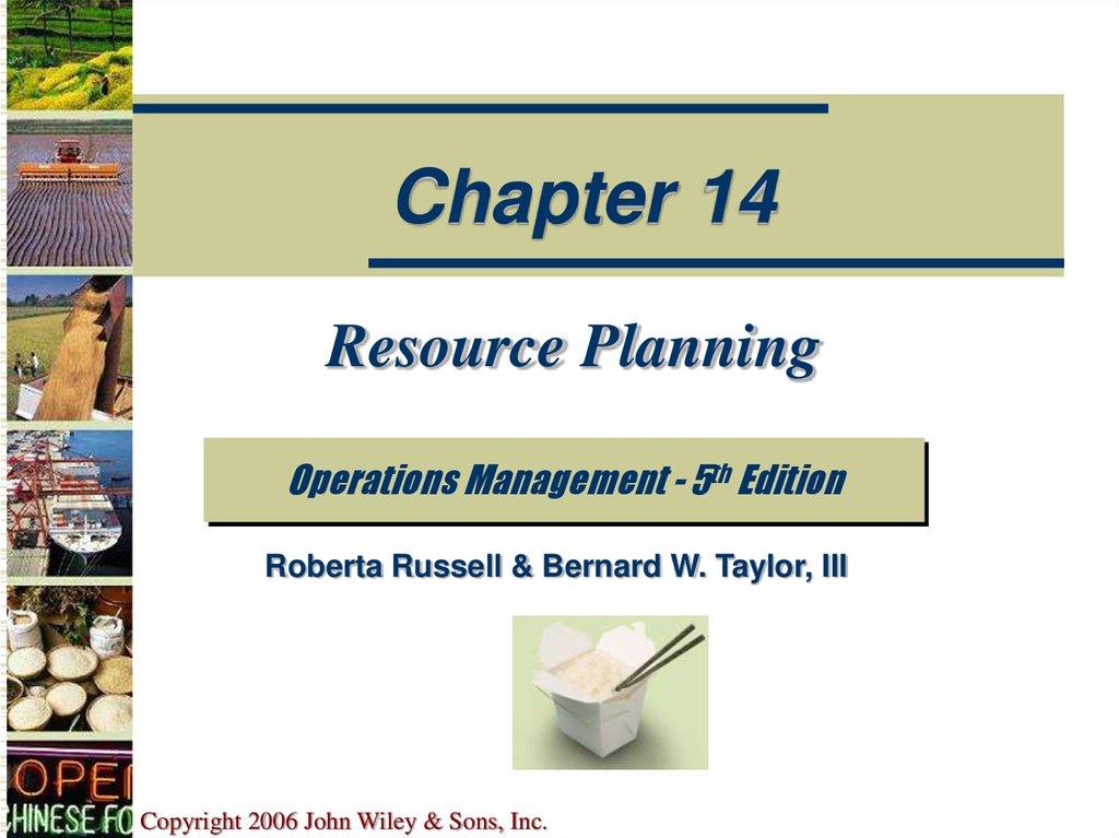 resource planning online presentation