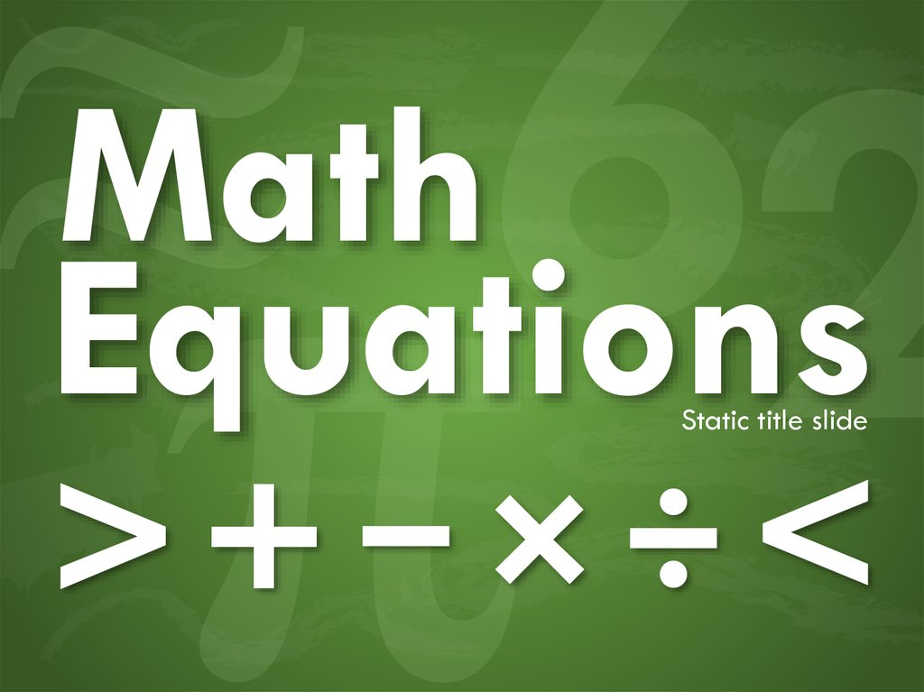 math equations online presentation