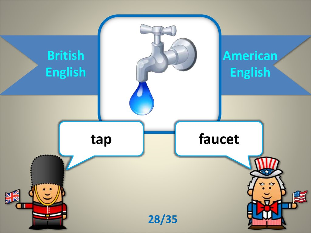 British English/ American English - online presentation