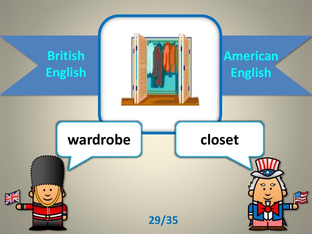 British English/ American English - online presentation