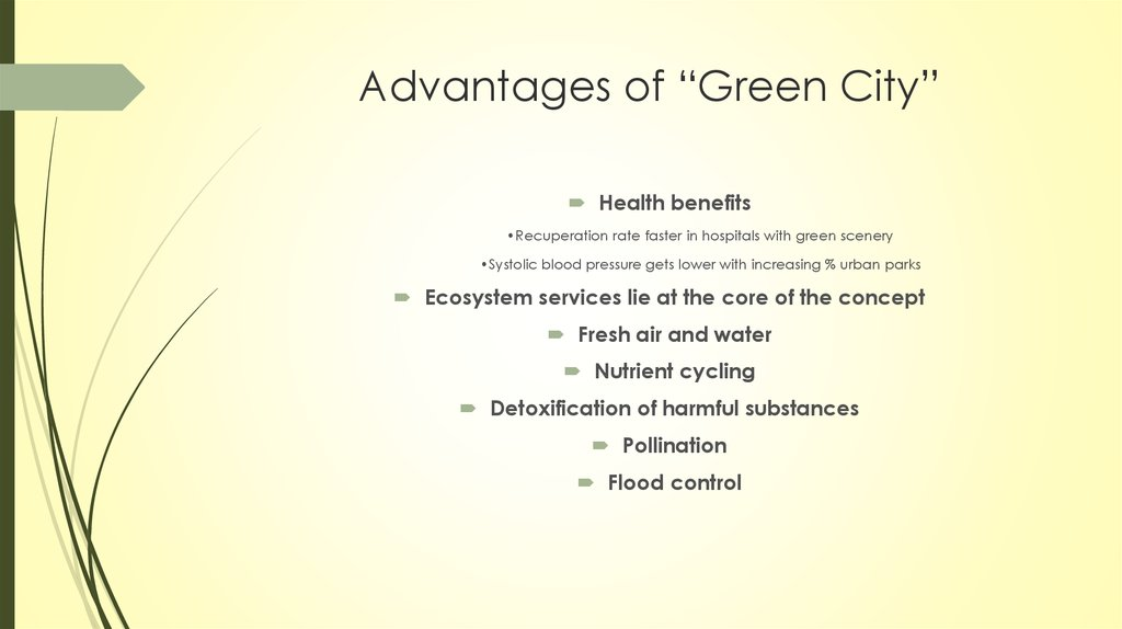 "Advantages of ""Green City"""