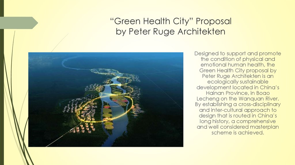 """Green Health City"" Proposal by Peter Ruge Architekten"