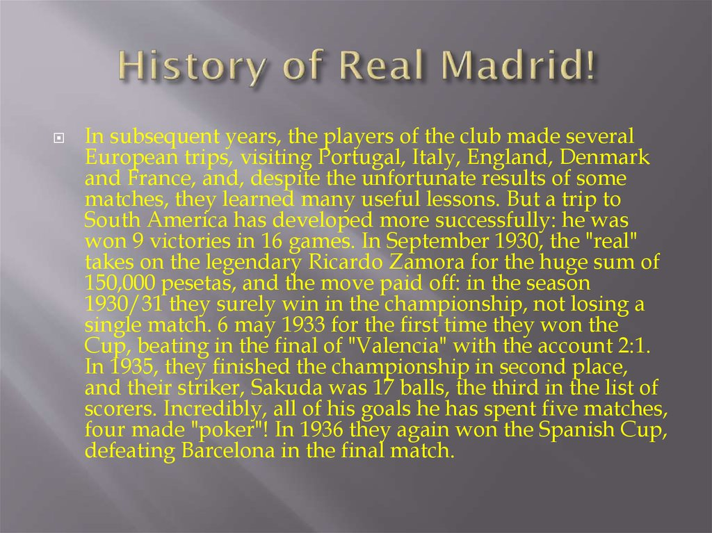 History of Real Madrid!