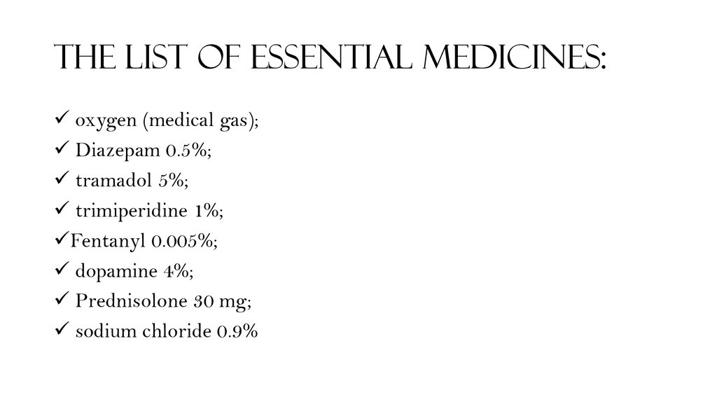 The list of essential medicines: