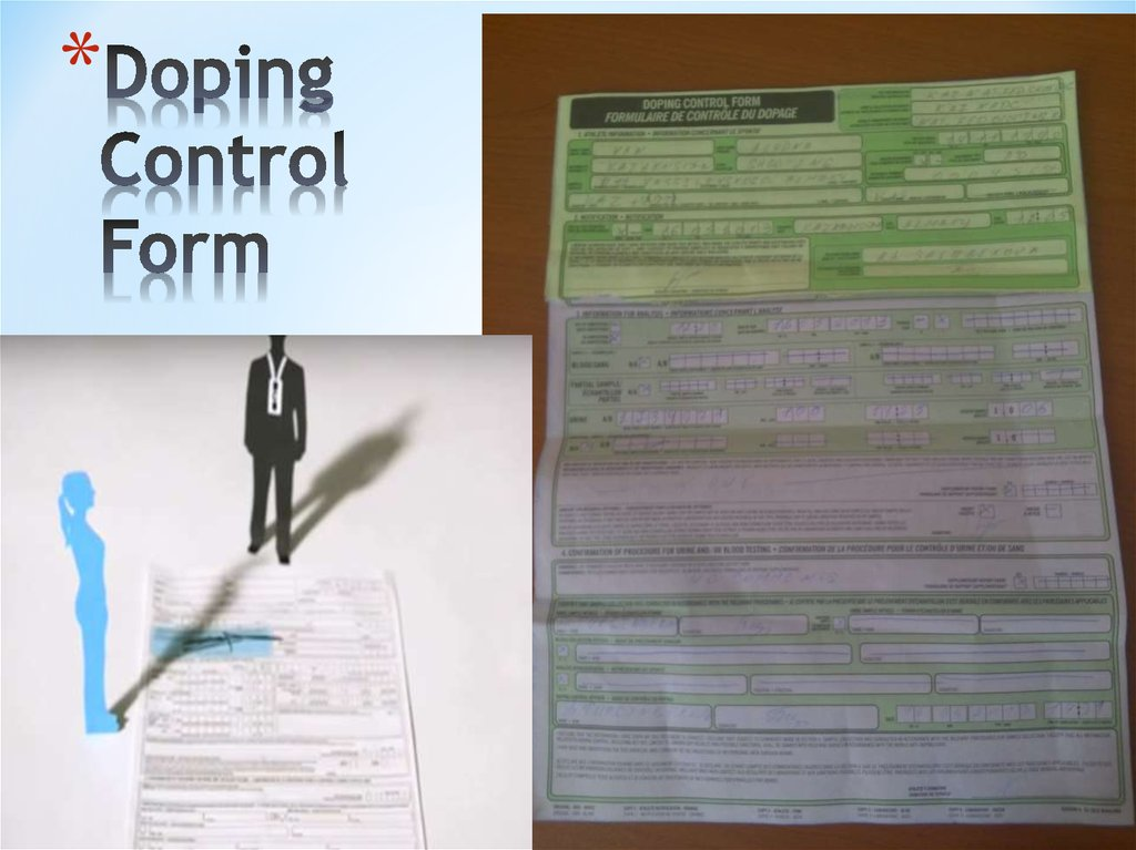 Doping Control Form