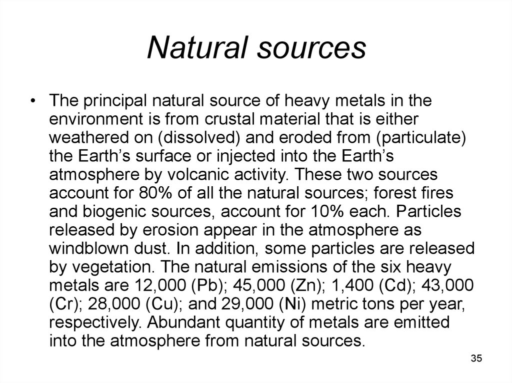 Natural sources