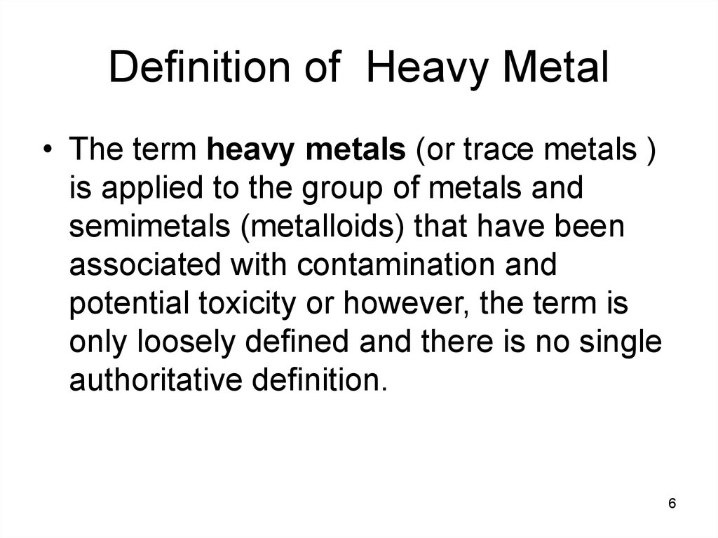 Definition of Heavy Metal