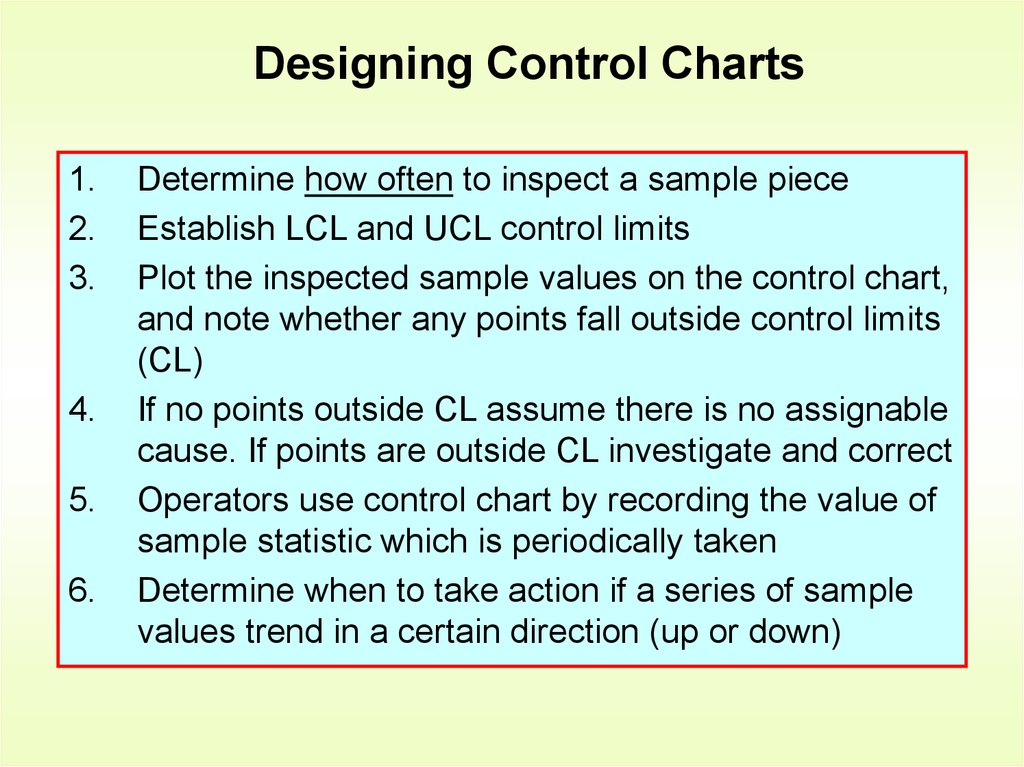 Designing Control Charts