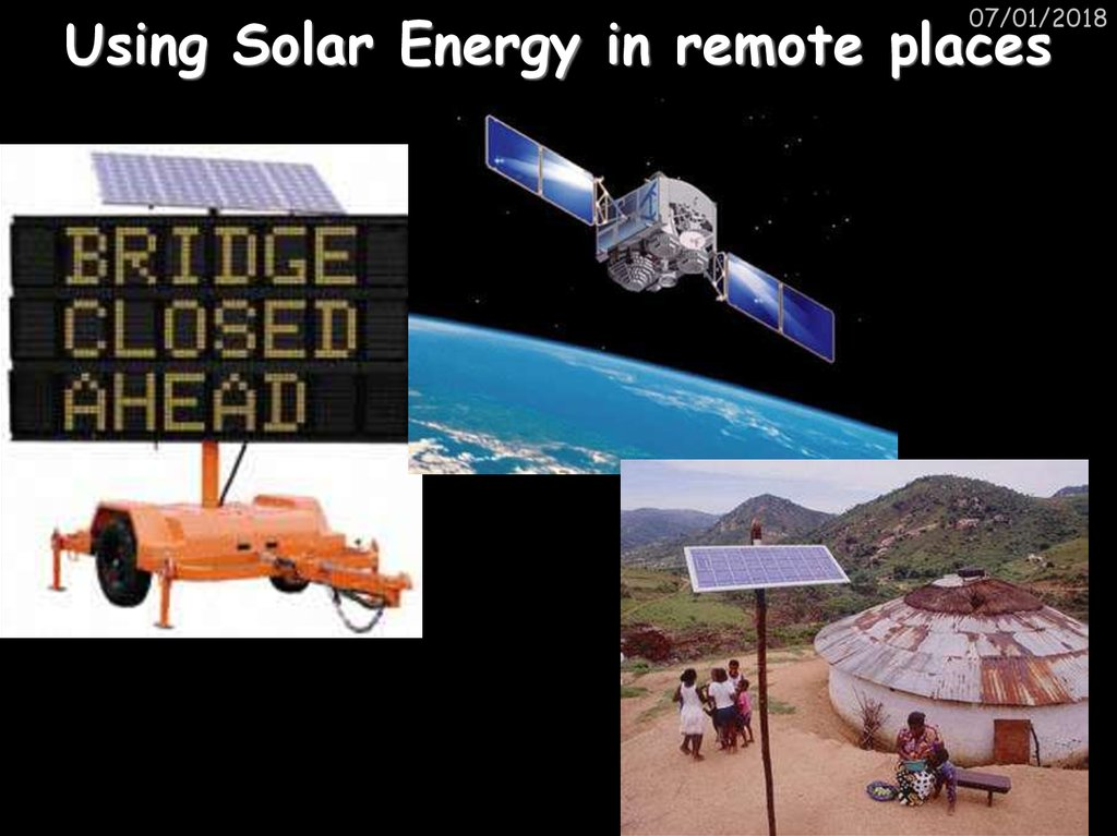 Using Solar Energy in remote places