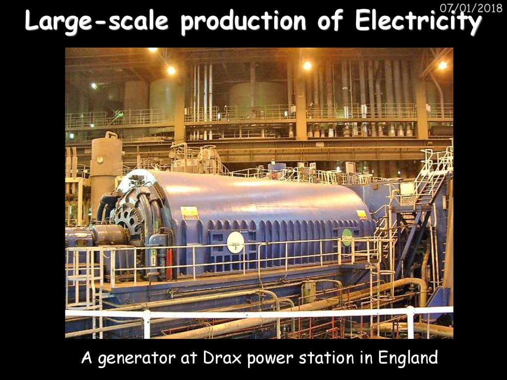 Large-scale production of Electricity