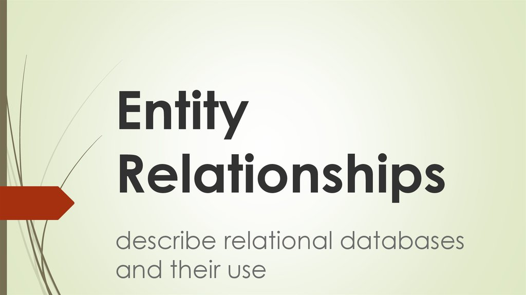 Entity Relationships