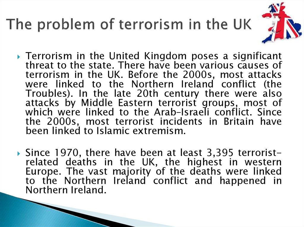 The problem of terrorism in the UK
