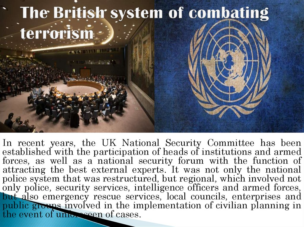 The British system of combating terrorism