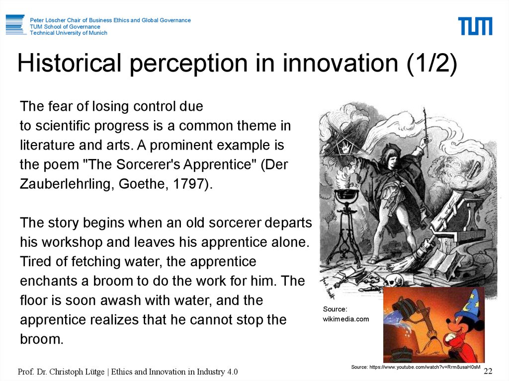 Historical perception in innovation (1/2)
