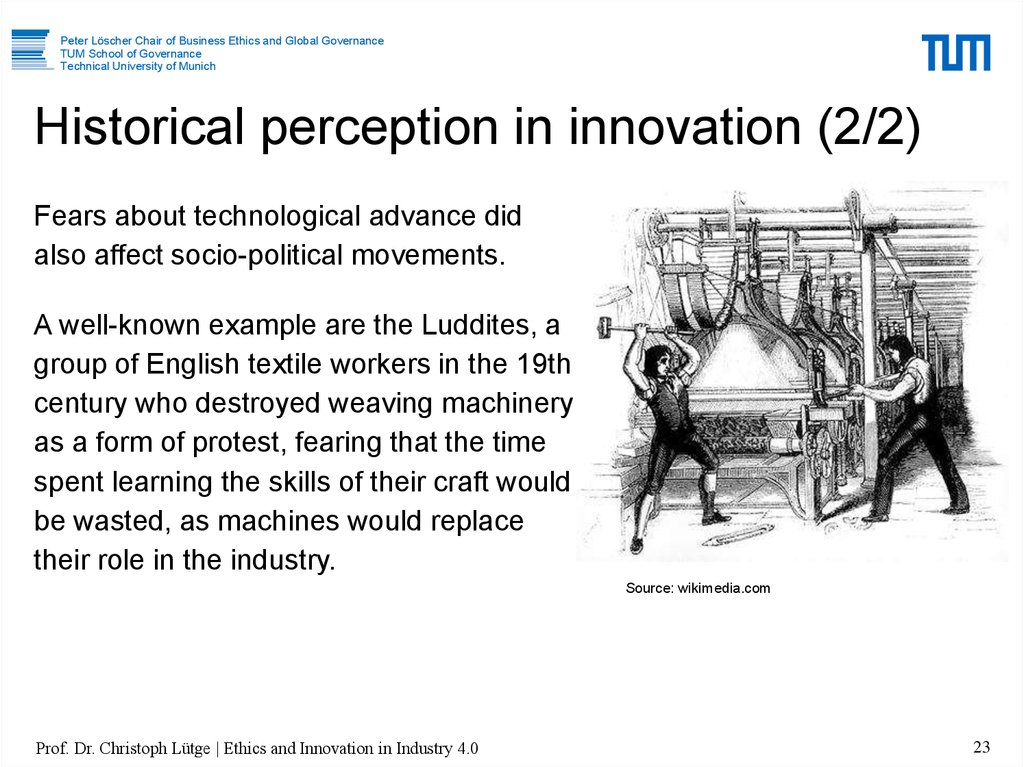 Historical perception in innovation (2/2)