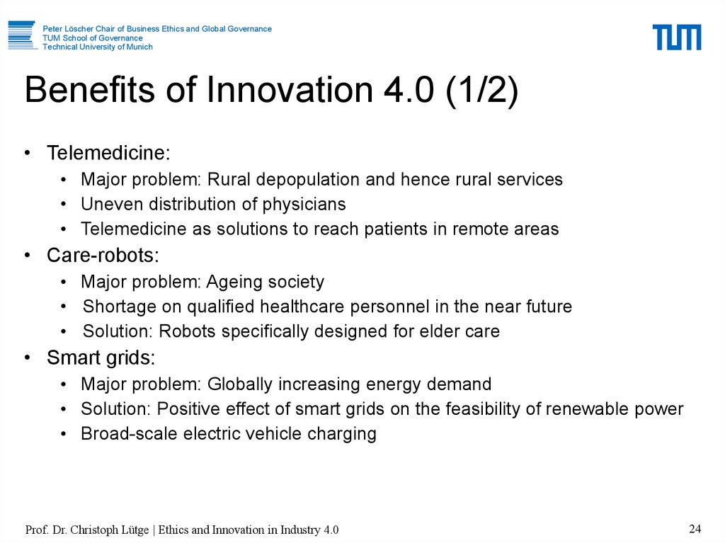 Benefits of Innovation 4.0 (1/2)