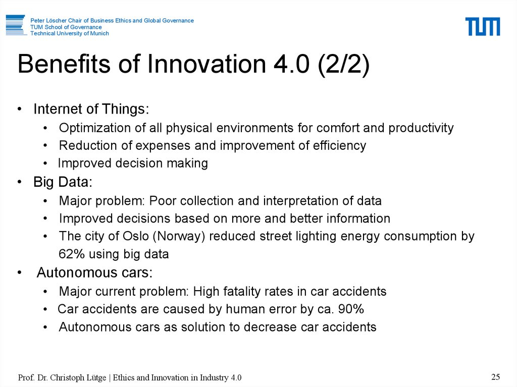 Benefits of Innovation 4.0 (2/2)