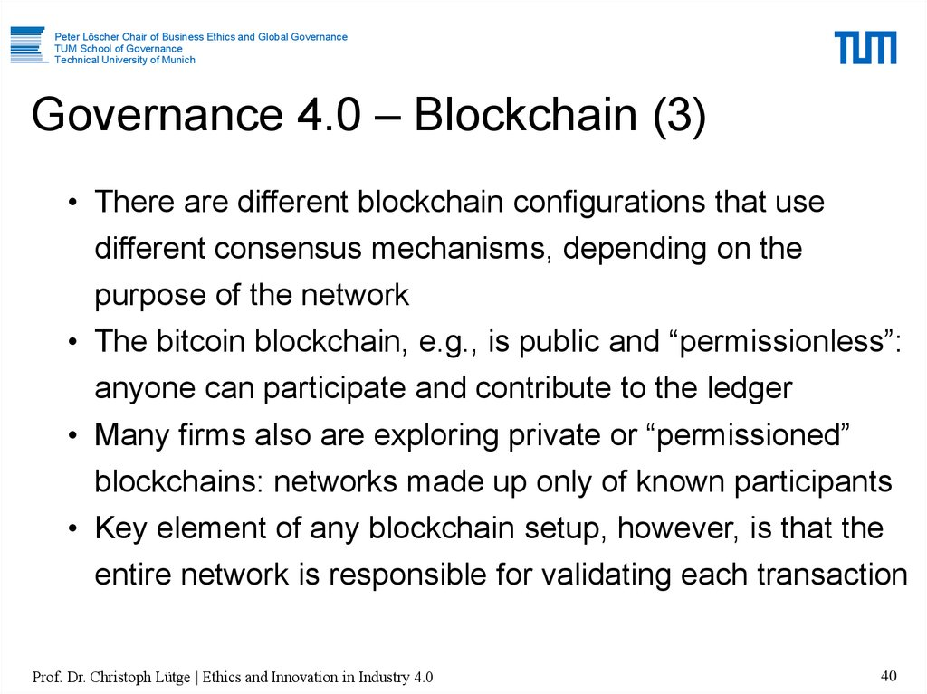 Governance 4.0 – Blockchain (3)