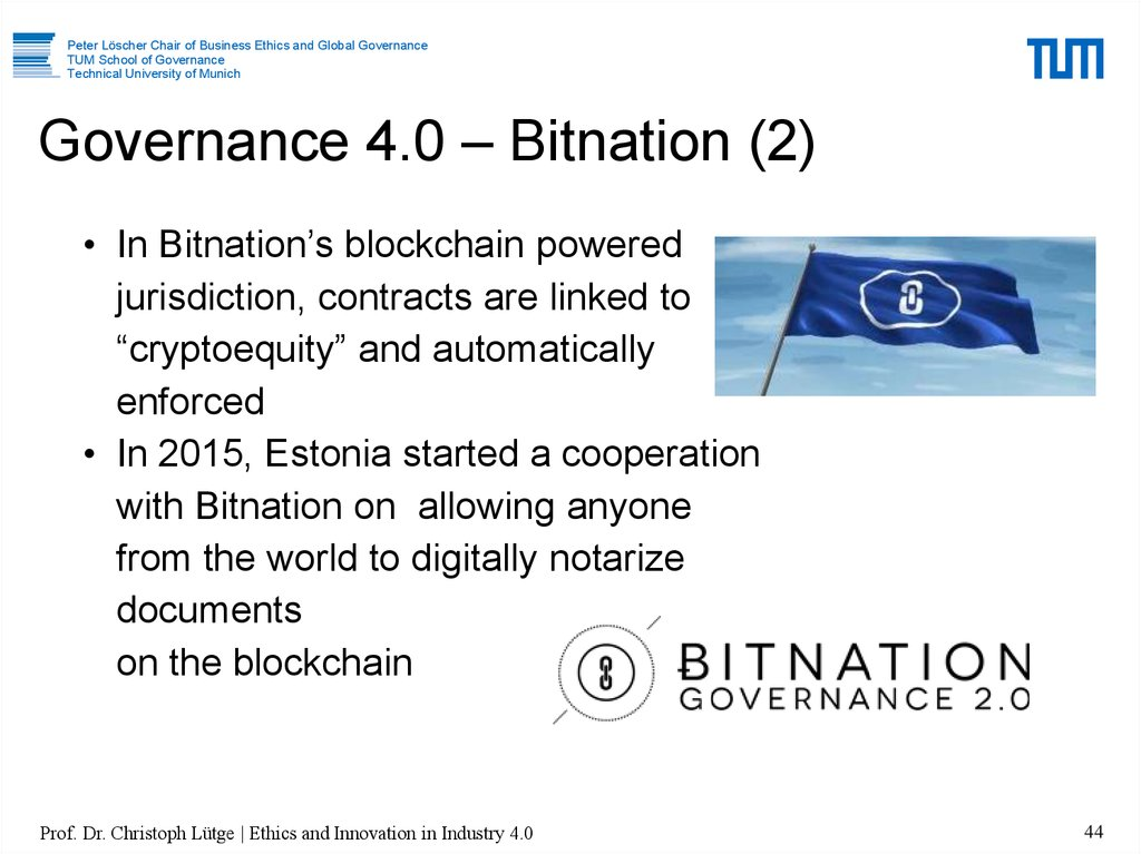 Governance 4.0 – Bitnation (2)