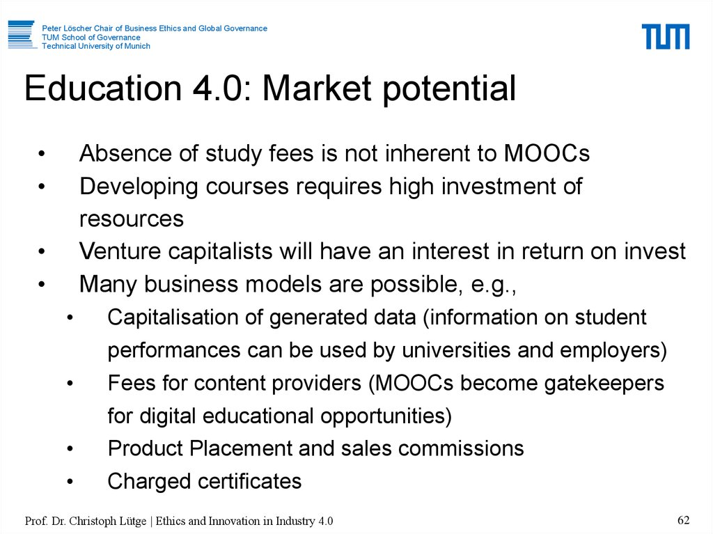 Education 4.0: Market potential