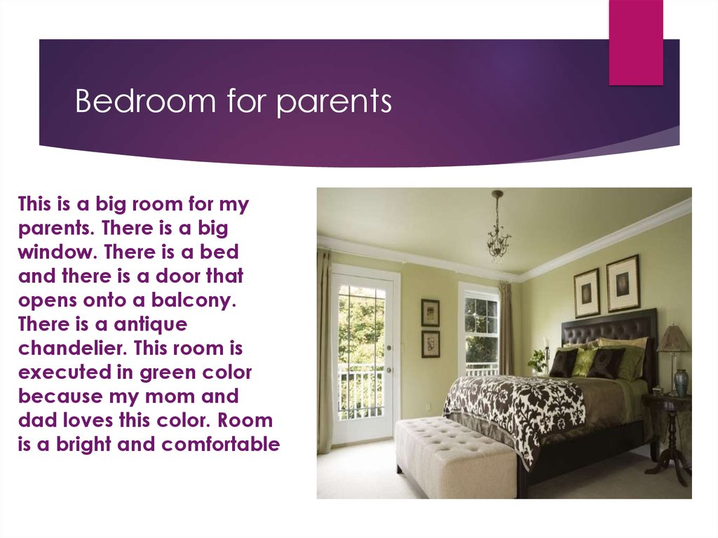 Bedroom for parents