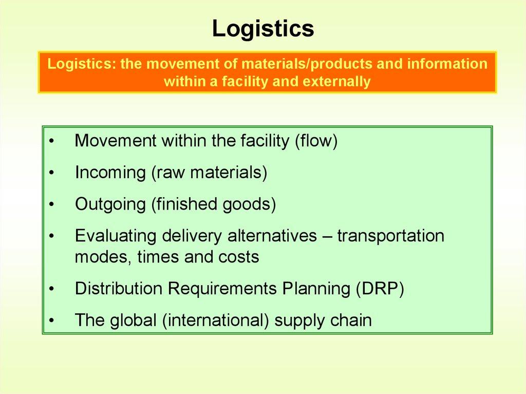 Supply chain management  Chapter 11 - online presentation