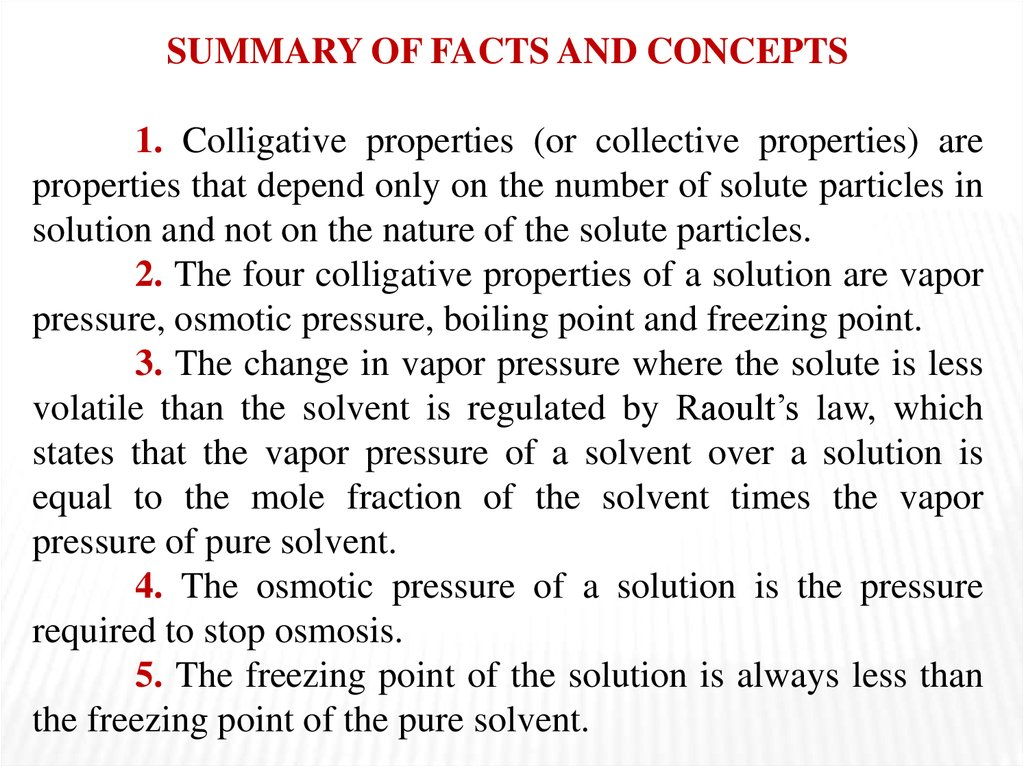 Lecture 5 Colligative Properties Of Solutions Online Presentation