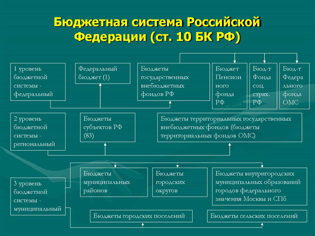 Бюджетная система рф картинки