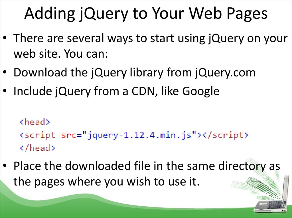 JQuery  Converting Numbers to Strings - online presentation
